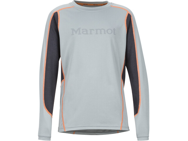 Marmot Windridge LS Jungs grey storm/dark steel